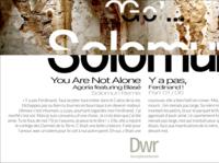 SOLOMUN / YOU ARE NOT ALONE ! new typography digitaldancingwordsrecords ux ui branding design digital frederic arvers