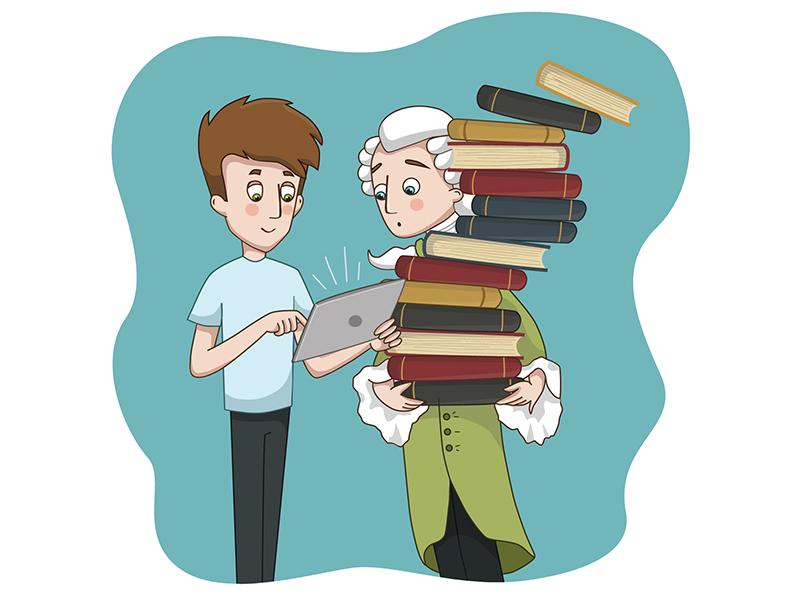 Illustration for the calendar facts man internet mood color funny character illustration