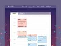 Schedule Page for Hackathon Live Site