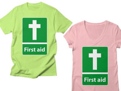 First Aid Cross Christian Tee