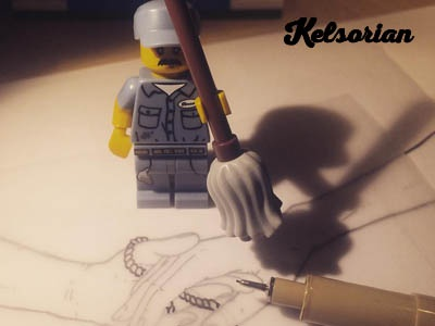 Drawing Hands With LEGO Man! andrew kelsall mop hands line drawing sketching sketch drawing lego