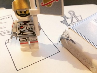 Just Doing some sketching! moleskine spaceman lego