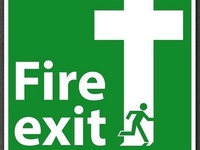 FIRE EXIT; CROSS