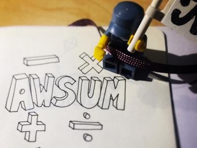 AWSUM Sketch moleskine sketch
