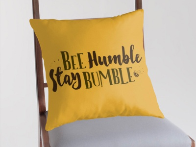 Bee Humble / Stay Bumble logo simple quirky slogan saying texts typographic typography life humour insects bees