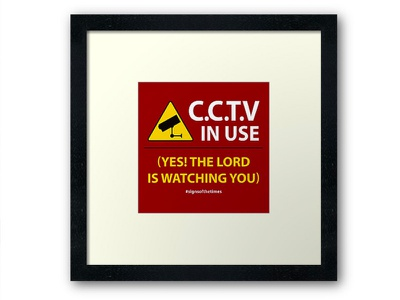 CCTV: The LORD is Watching You! - Christian Design red yellow typography lord andrew kelsall cctv savior evangelism christianity christian jesus christ