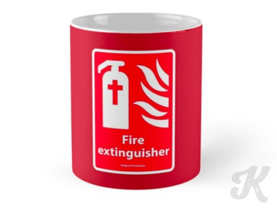 Fire Extinguisher - #SignsoftheTimes Series christian art christian graphic christian humor christian signs christian graphics christian design christianity christian signsofthetimes