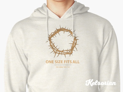 One Size Fits All Hoodie christian hoodie prayers pray god faithful faith spiritual crown thorns evangelism bible bible verse