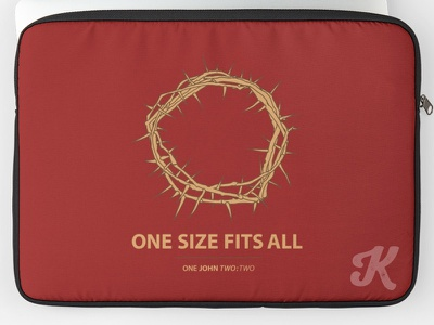 One Size Fits All Laptop Case prayers pray grace god faithful laptop sleeve spiritual crown thorns evangelism bible bible verse