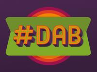 DAB Retro Logo Slogan