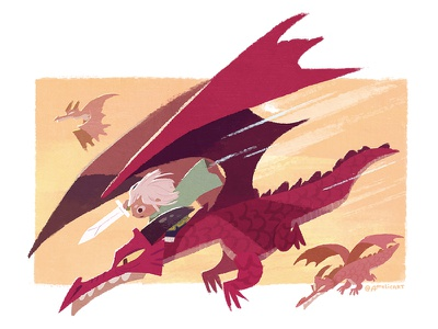 the Dragon Knight children dragon illustration game rpg