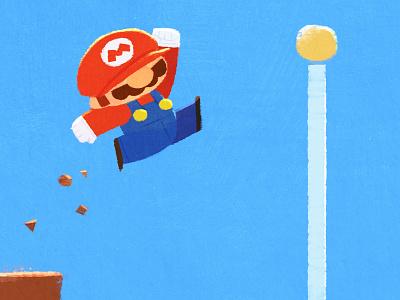 Mario Jump fanart game mario