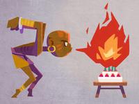 Yoga Flame Birthday