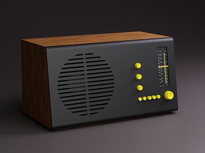 Vintage Rams Radio woodtexture studiolight vintage yellow 3d radio rams dieterrams