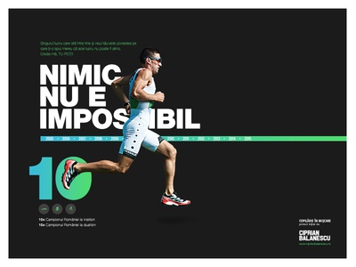 Dribbble gradient black bold poster sport