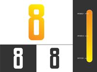 i8 - negative space monogram