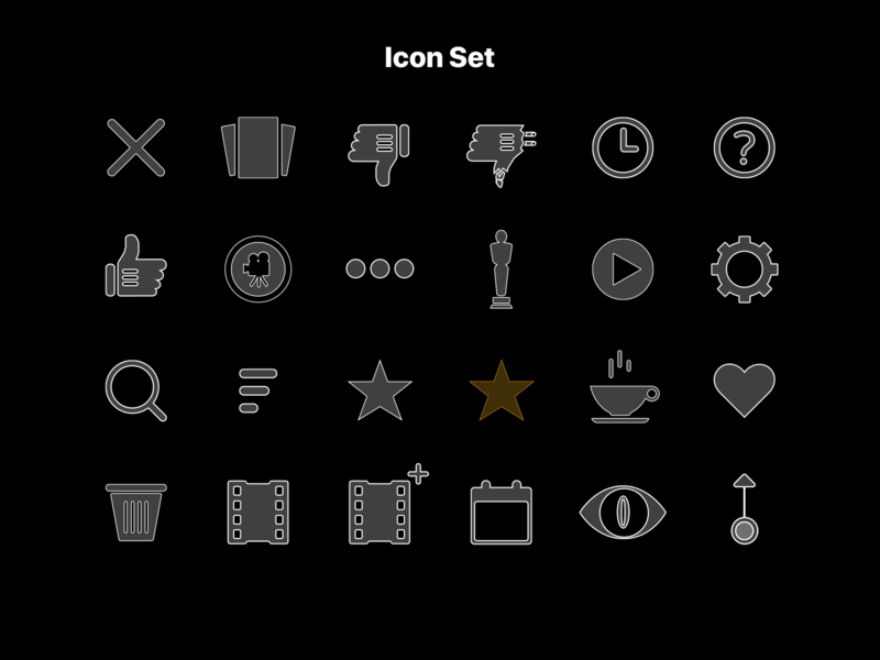 Moviestr Iconset entertainment iconset icon ios movie app