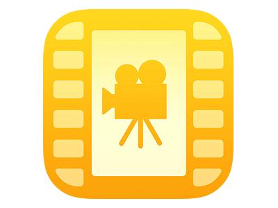 Movie App Icon movie app icon trailer camera film roll