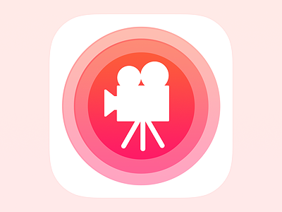 Movie Icon Final movie app icon trailer camera film roll