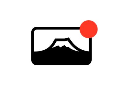 Mount Fuji sun branding logo japan mount fuji