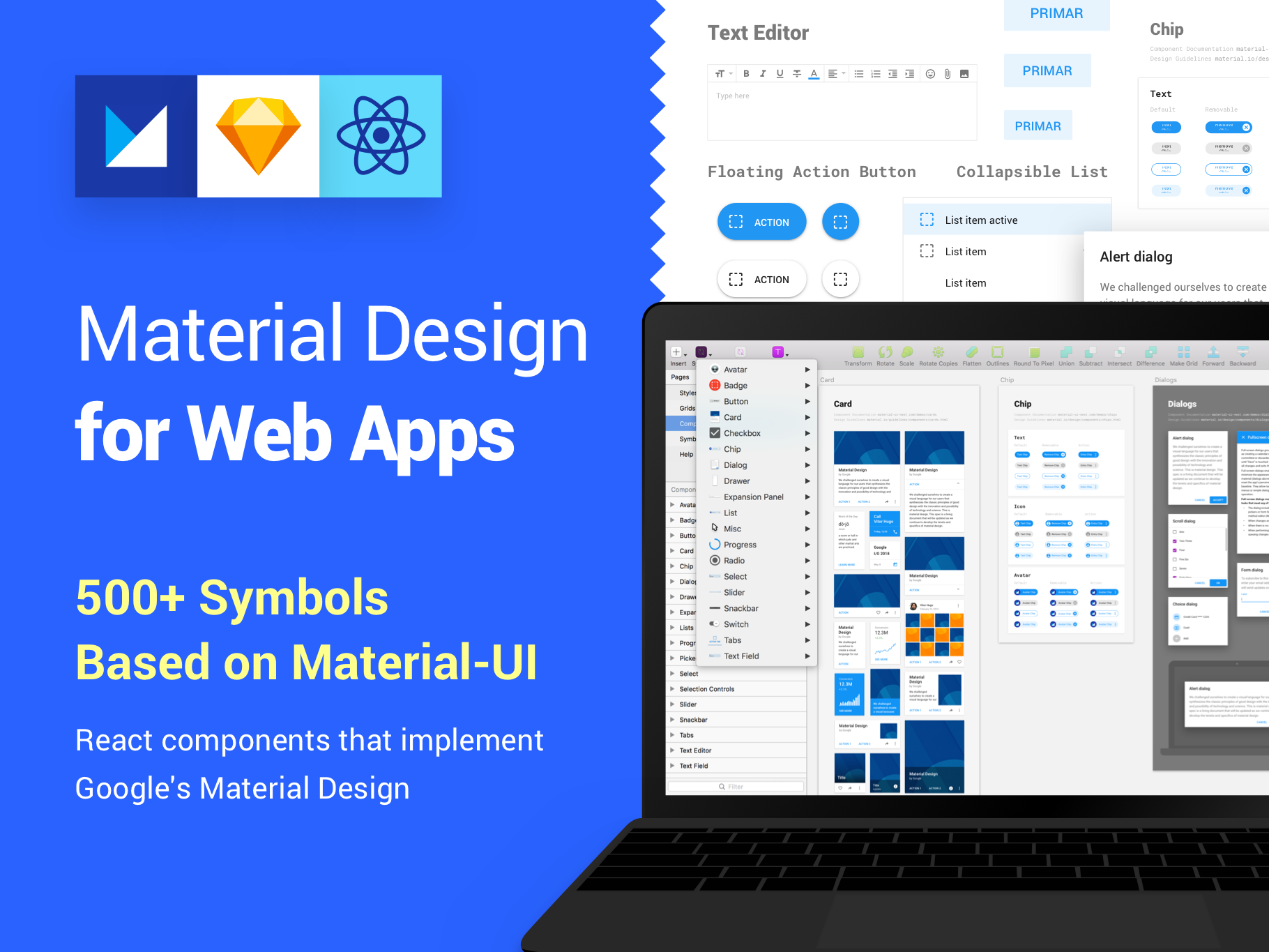 Material Design Kit for Web Apps by Vitor Heinzen on Dribbble