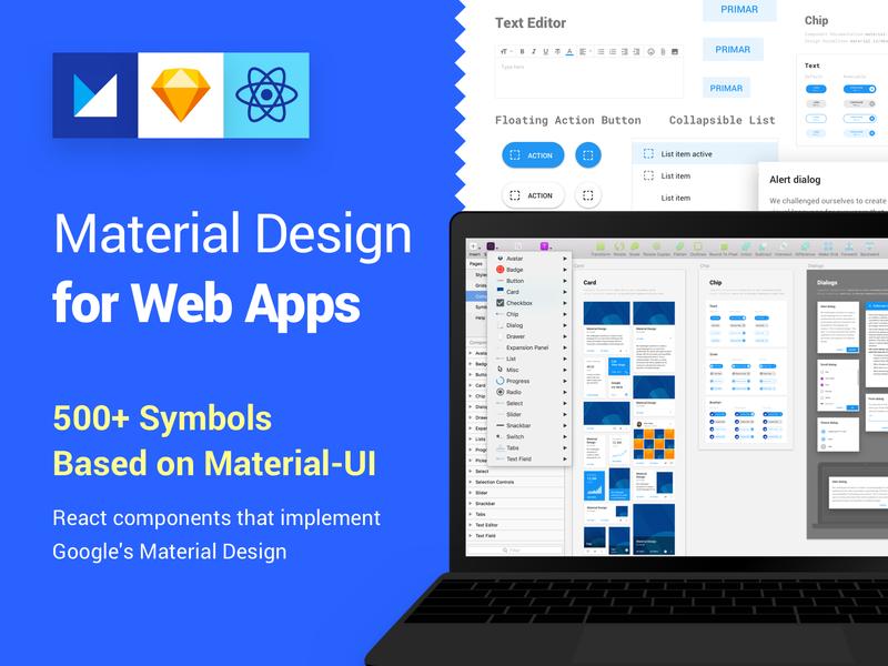 Material Design Kit for Web Apps by Vitor Heinzen on Dribbble