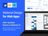 Fast Prototype using Material Design Kit for Web Apps