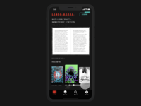 Darkside books app slider