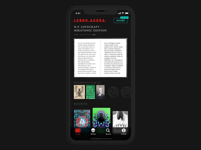 DarkSide books reading experience on iPhone