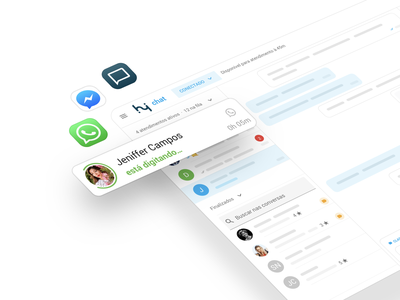 Omnichannel customer support platform ux ui facebook whatsapp chat support customer omni