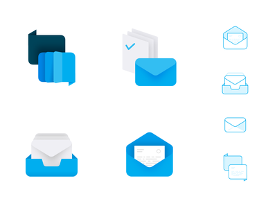 Product branding icons balloon mail email inbox chat logo iconset branding icons