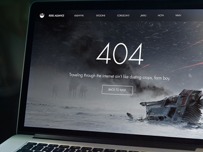 Star Wars 404 found not page website alliance rebel hoth solo han 404 wars star