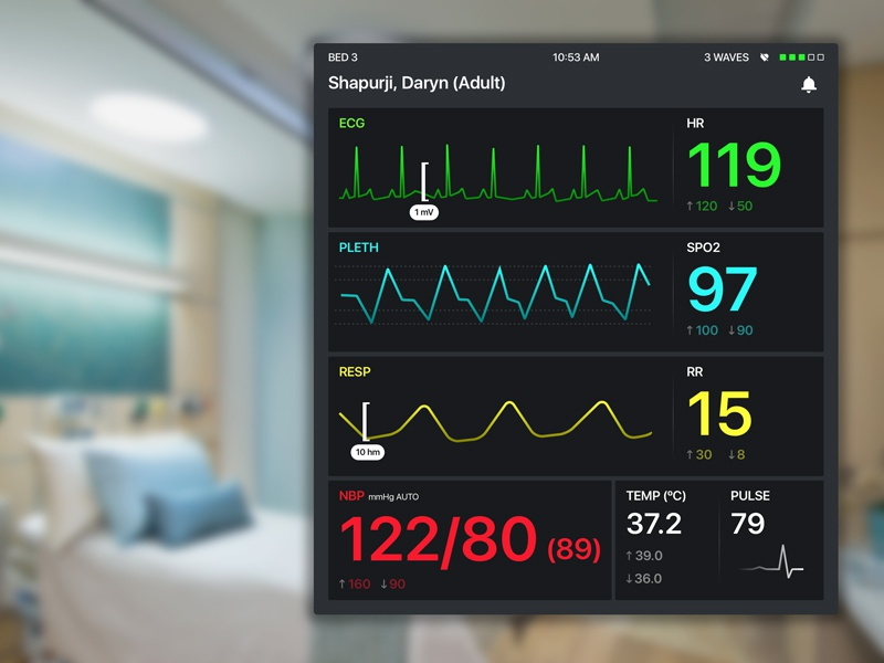 Heart Rate Monitor by Daryn Shapurji for DeveloperTown on ...