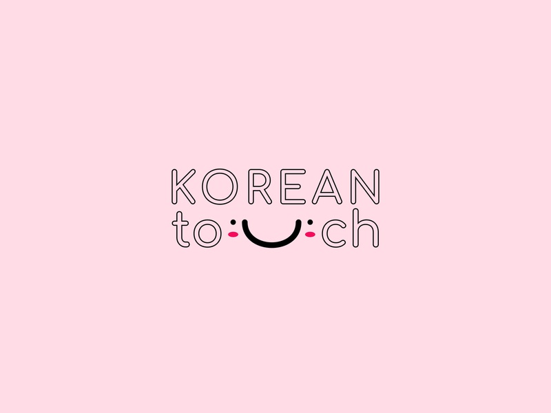 Korean touch pink idenity brand store cosmetic korean korea commercial businesscard branding apple app web ux ui minimal illustration flat logotype logo