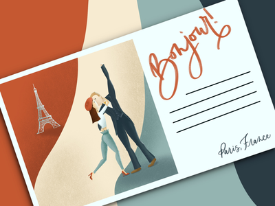 Parisian Love Postcard
