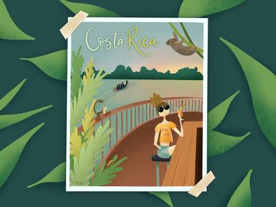 Costa Rica   Pura Vida Illustration