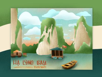 Ha Long Bay, Vietnam   Illustration