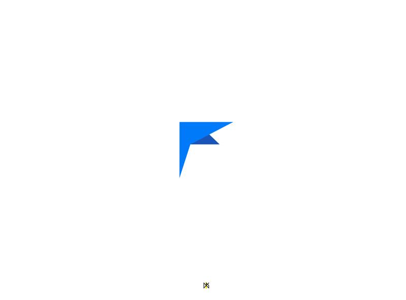 Arab Forex Logo logodesign f logo blue icon logo design graphic design illustration branding logo graphic design