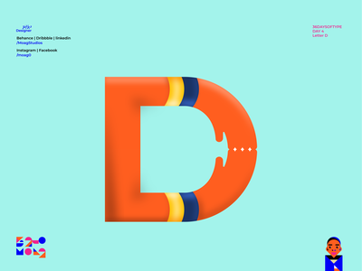 Letter D Logo Design design digitaltype typelove welovetype typeyeah youaretypography typetopia typematters handmadefont 50words typeeverything madewithfontself goodtype contest 36daysoftype08 36daysoftype