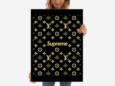 Poster Lv & Superme