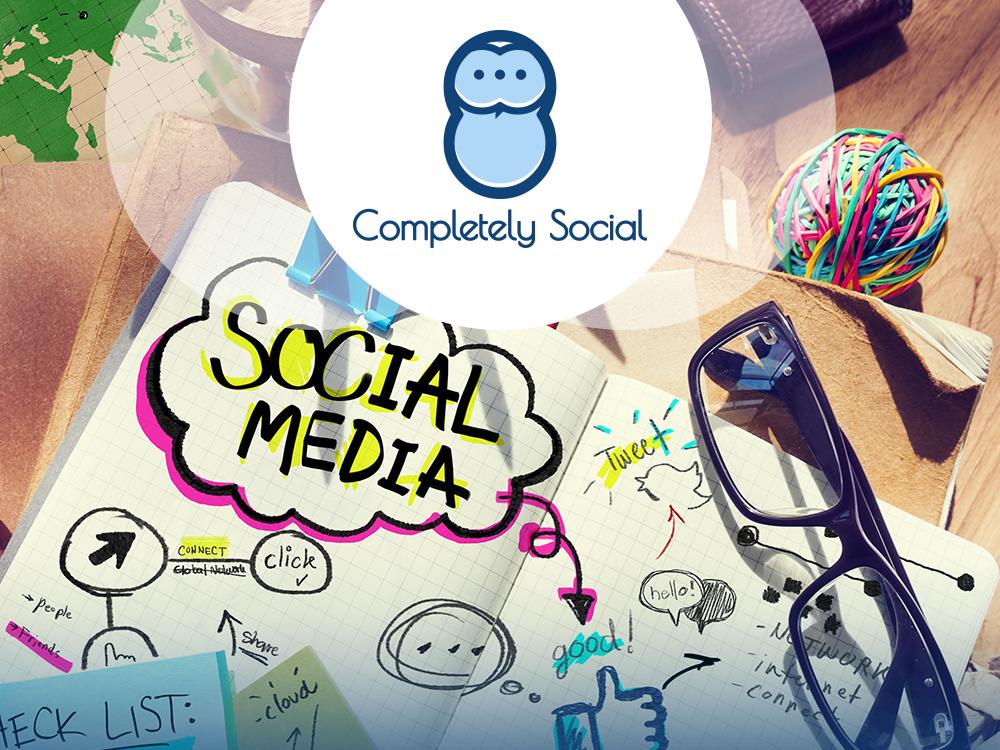 Completely Social illustratrion icon idea typography art vector logo design graphic design branding logo graphic illustration design