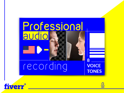 Record a Professional American Voice branding graphic design graphic design audio music sound voice tones voice assistant voice over voice