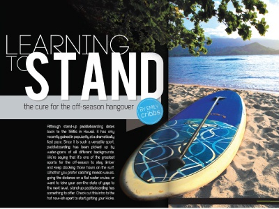 Learning to Stand Editorial Piece editorial magazine paddleboard