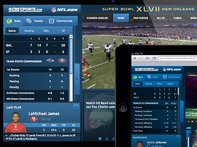 Super Bowl XLVII Second Screen Experience superbowl super bowl tablet sports football