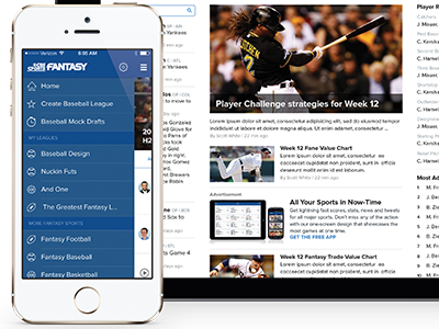 CBSSports Fantasy App ios sports fantasy baseball cbssports