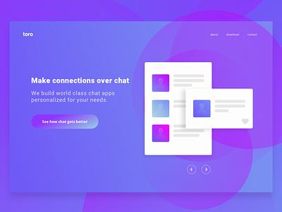 Daily UI 3 - Landing Page blue purple gradient landing page ui daily ui