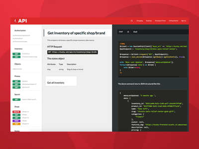 Kushy API Docs - v2 react code ui api docs documentation