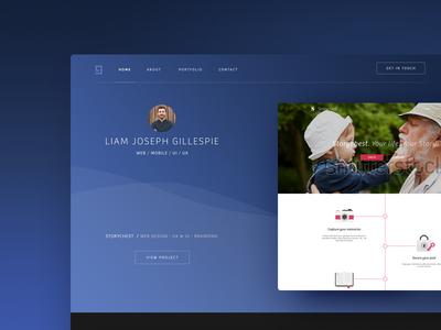 Initial Portfolio Concept portfolio clean ui ux style web website mobile