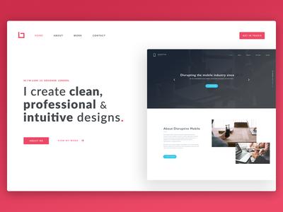 Portfolio Concept professional web design website web clean ux ui cv portfolio