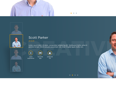 Proposed Team Page creative page team ui layout clean development app apps web website